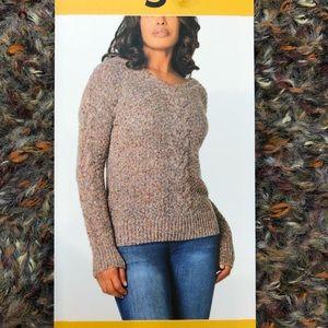 NWT ADRIENNE VITTADINI Marl Knit V-Neck Sweater